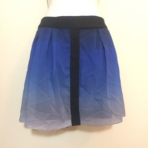 Dresses & Skirts - Blue black ombré wrap skirt sheer lined Sz 5